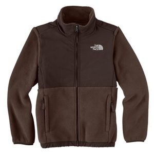 Girls brown jacket by The North Face. Size medium